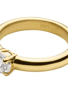 Dyrberg/Kern Solitaire Cubic Zirconia Ring