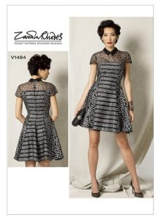 Vogue Women's Petite Fit and Flare Dress Sewing Pattern