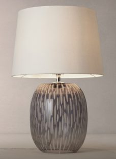 John Lewis Agatha Ombre Carved Glass Table Lamp