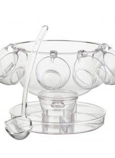 John Lewis 4-In-1 Punch Bowl and Glasses