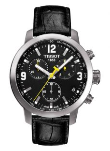 Tissot T0554171605700 Men's PRC 200 Chronograph Date Leather Strap Watch