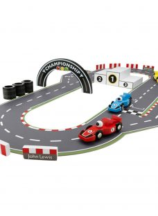 John Lewis Wooden Racing Car and Track Playset