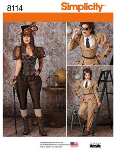 Simplicity Women's Steampunk Costume Sewing Pattern