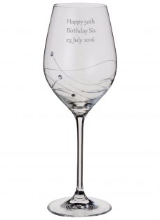 Dartington Crystal Personalised Glitz Wine Glass (Single)