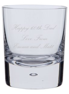 Dartington Crystal Personalised Exmoor Old Fashioned Whisky Glass (Single)