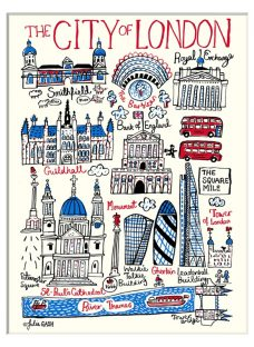 Julia Gash - The City Of London Unframed Print with Mount