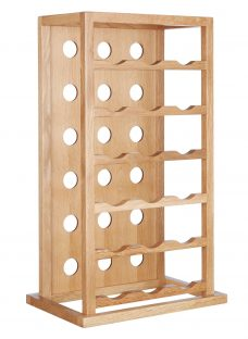 John Lewis Oak Wood Tower Wine Rack