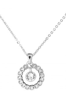 Ted Baker Cadhaa Concentric Swarovski Crystal Round Pendant Necklace