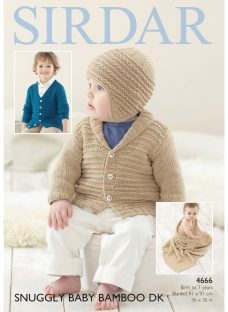 Sirdar Snuggly Baby Bamboo DK Cardigan and Blanket Knitting Paper Pattern