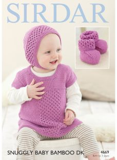 Sirdar Snuggly Baby Bamboo DK Hat and Top Knitting Paper Pattern