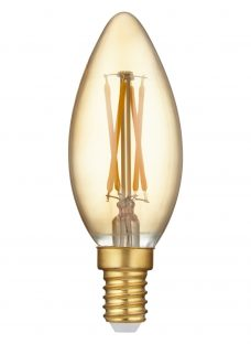 Calex 3.5W SES LED Dimmable Filament Rustic Candle Bulb