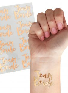 Ginger Ray Hen Party Team Bride Temporary Tattoos