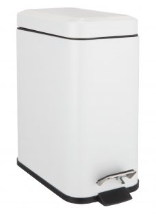 John Lewis Rectangular Soft Close Bathroom Bin