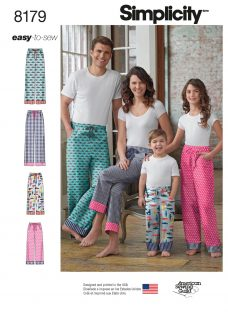 Simplicity Adult and Children's Lounge Trousers Sewing Pattern
