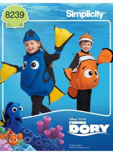 Simplicity Disney Pixar Children's Finding Dory Costume Sewing Pattern