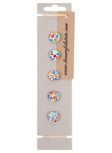 House of Alistair Floral Printed Fabric Buttons