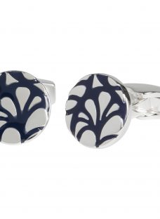 Simon Carter for John Lewis Silver Plated Round Embossed Cufflinks