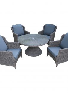 4 Seasons Outdoor Valentine 'Cosy Living' Garden Table & Chairs Set