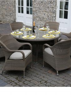 4 Seasons Outdoor Sussex 6 Seater Dining Set With Lazy Susan