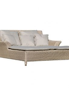 4 Seasons Outdoor Valentine 2 Seater Sunbed & 7 Cushions