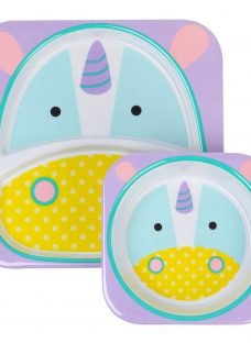Skip Hop Baby Melamine Unicorn Plate and Bowl Set