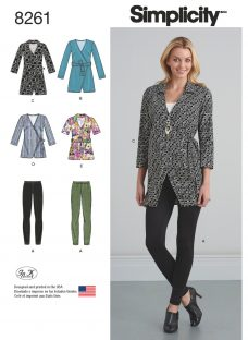 Simplicity Women's Wrap Tunic and Knit Leggings Sewing Pattern