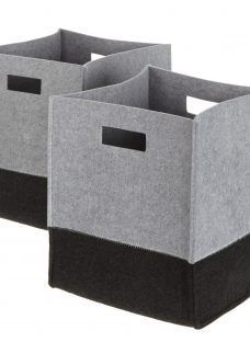 House by John Lewis 2 Tone Felt Storage Box
