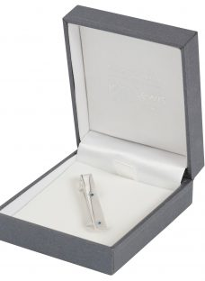 Simon Carter for John Lewis Sterling Silver Sapphire Tie Clip