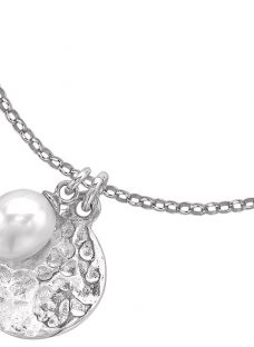 Dower & Hall Pearlicious Disc and Pearl Pendant Necklace