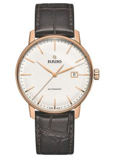 Rado R22877025 Unisex Coupole Classic Date Automatic Leather Strap Watch