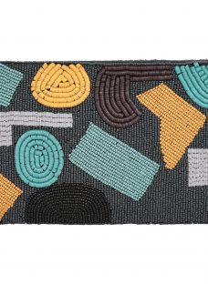 Jaeger Abstract Beaded Clutch Bag