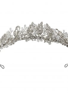 Ivory & Co. Vintage Lace Freshwater Pearl and Cubic Zirconia Pave Tiara