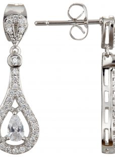 Ivory & Co. Timeless Cubic Zirconia Pave Drop Earrings