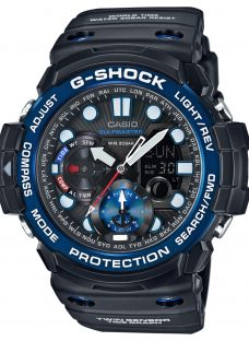 Casio GN-1000B-1AER Men's G-Shock Gulfmaster World Time Chronograph Resin Strap Watch