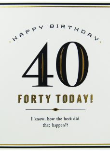 Pigment 40 Today Birthday Card