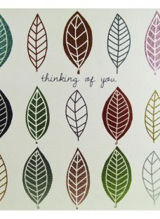 Really Good Leaves Thinking Of You Card