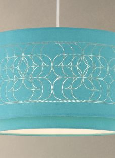 John Lewis Easy-to-fit Arvid Pierced Linen Ceiling Shade