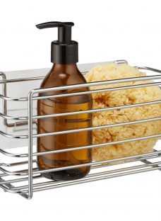 BlissHome Stick 'em Up Rectangular Shower Basket