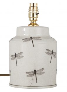 India Jane Dragonfly Canister Jar Lamp Base
