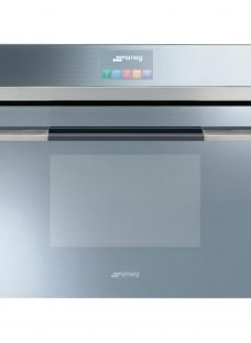 Smeg SF4140MC Linea Aesthetic Combination Microwave Oven with Touch Controls