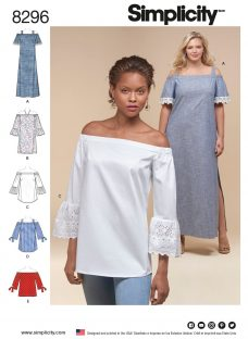 Simplicity Women's Tops and Dress Sewing Pattern