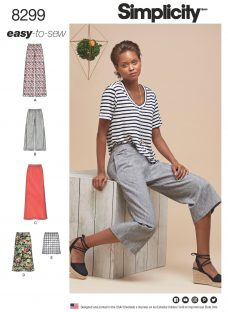 Simplicity Women's Wrap Skirt and Trousers Sewing Pattern