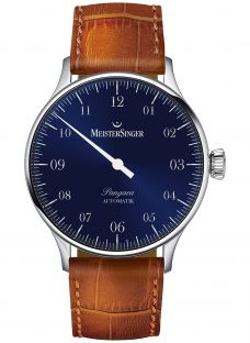 MeisterSinger PM908 Unisex Pangaea Automatic Leather Strap Watch
