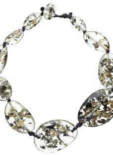 Jackie Brazil Riverstone Seaweed Short Necklace