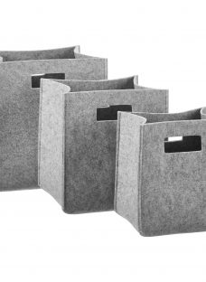 House by John Lewis Felt Bucket Storage Box