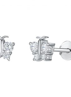 Jools by Jenny Brown Butterfly Cubic Zirconia Stud Earrings