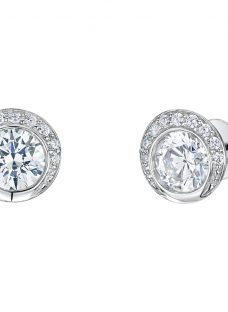 Jools by Jenny Brown Circular Cubic Zirconia Stud Earrings