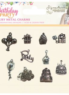 Crafter's Companion Birthday Party Metal Charms