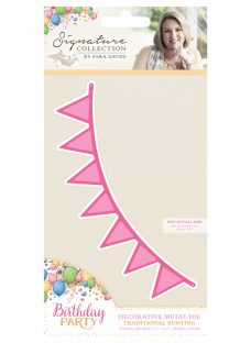 Crafter's Companion Birthday Party Traditional Bunting Metal Dies