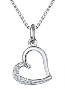 Jools by Jenny Brown Cubic Zirconia Hanging Heart Necklace